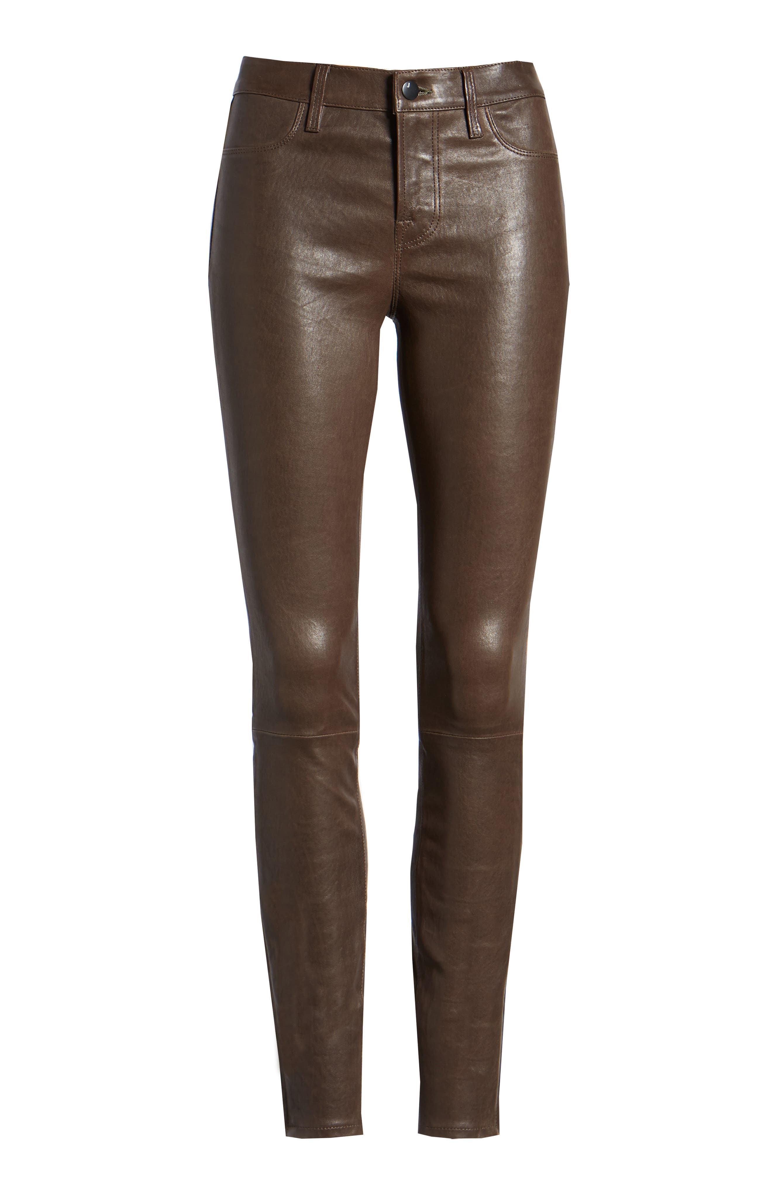 ,                             '8001' Lambskin Leather Pants,                             Alternate thumbnail 12, color,                             209