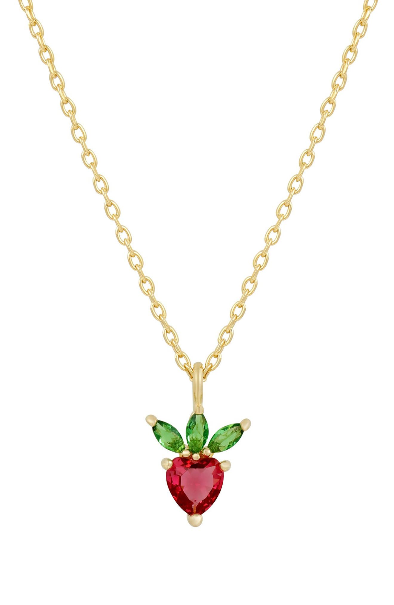 Very Berry Strawberry Pendant Necklace