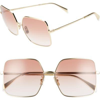 Celine 60Mm Gradient Square Sunglasses - Endura Gold/ Gradient Bordeaux