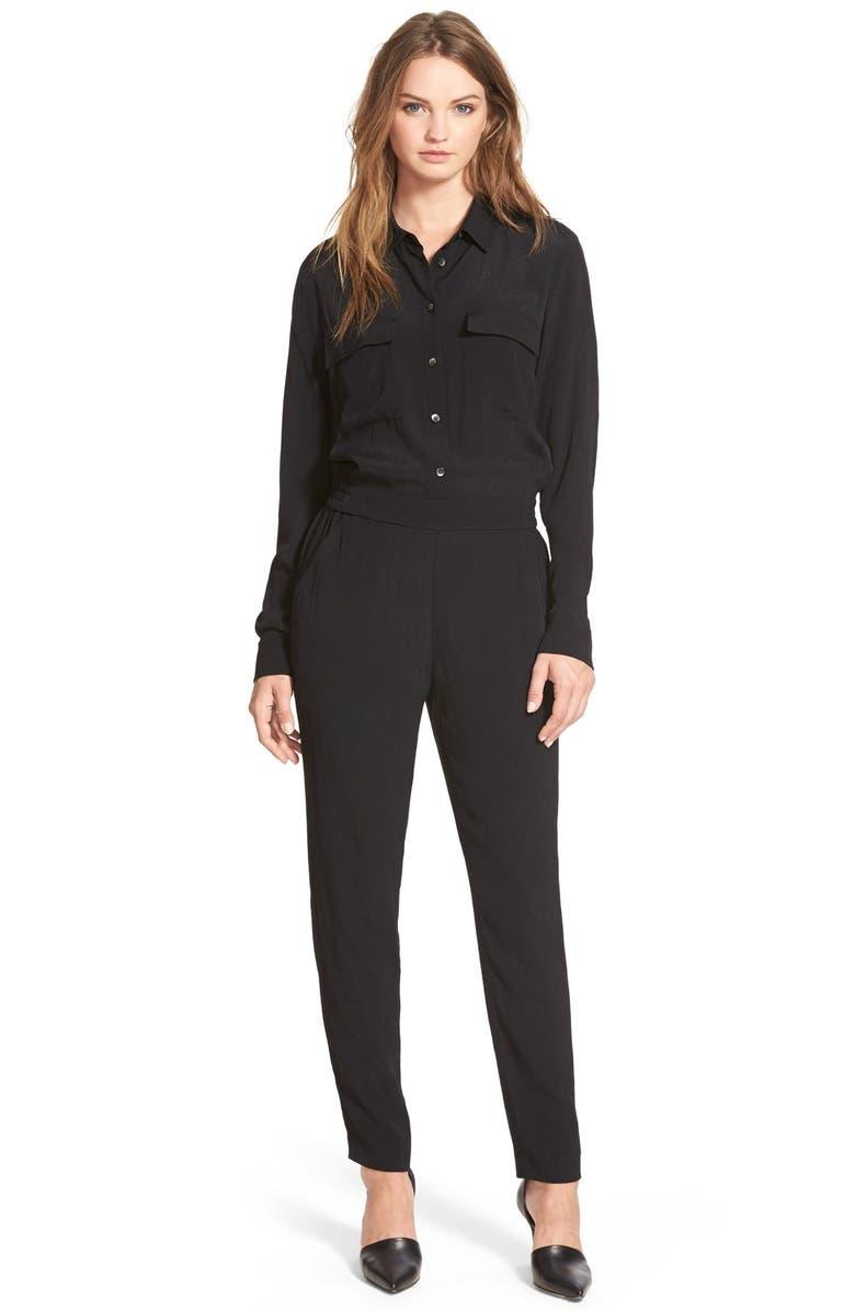MADEWELL Pull-On Jumpsuit, Main, color, TRUE BLACK