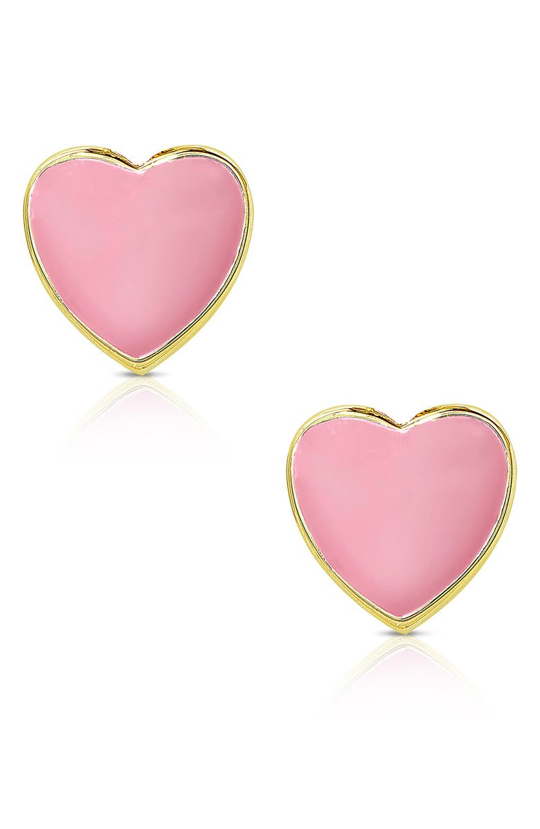 LILY NILY Heart Stud Earrings, Main, color, GOLD