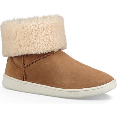 Ugg Mika Classic Genuine Shearling Sneaker- Brown