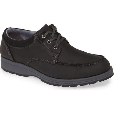 Hush Puppies Beauceron Water Resistant Moc Toe Derby, Black