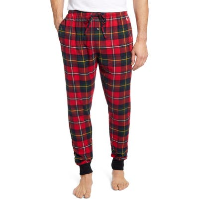 Polo Ralph Lauren Plaid Flannel Jogger Pajama Bottoms, Red