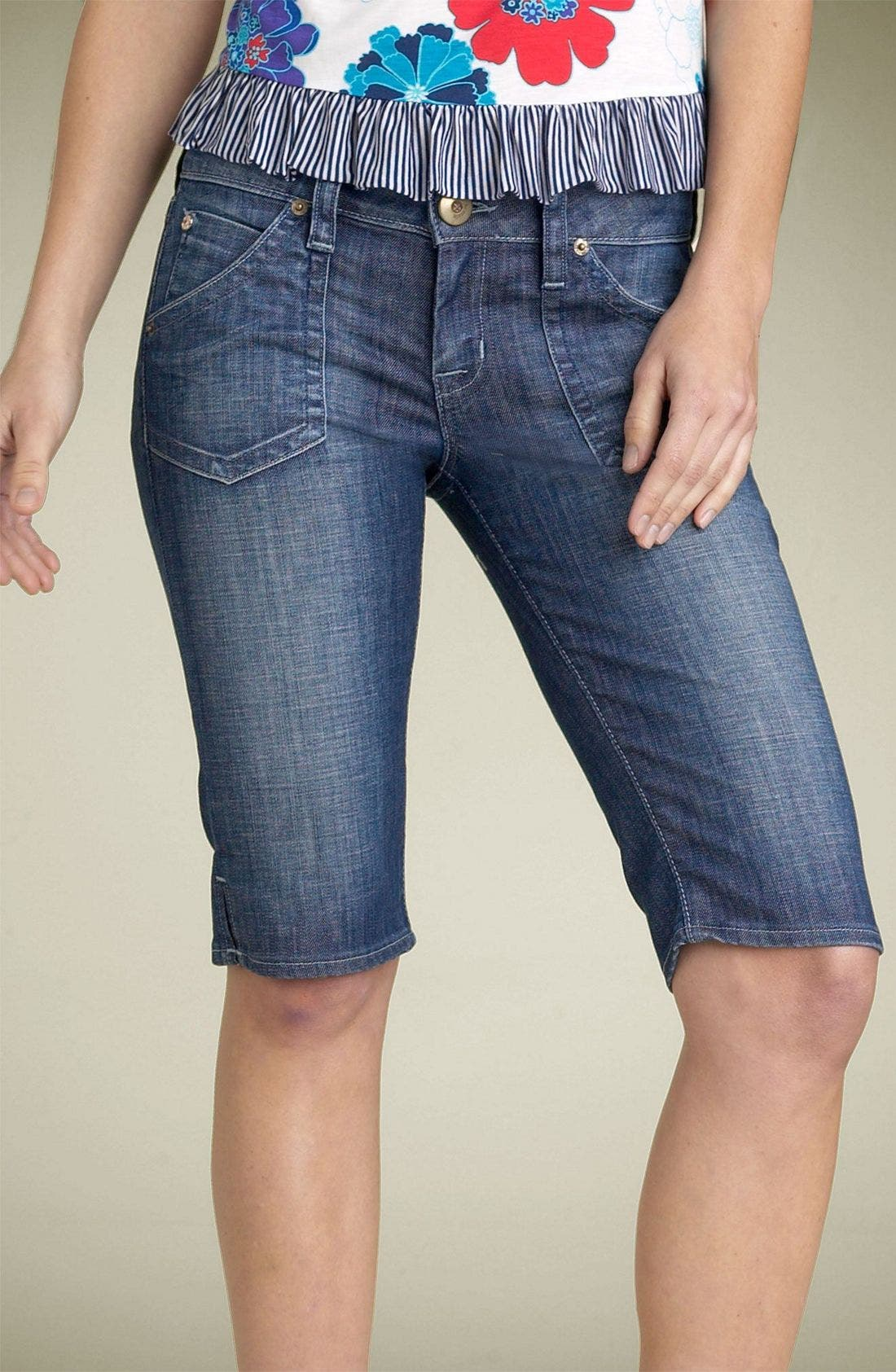 ,                             Hudson Stretch Denim Bermuda Shorts,                             Alternate thumbnail 10, color,                             458