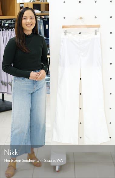 Stretch Cotton & Linen Wide Leg Trousers, sales video thumbnail