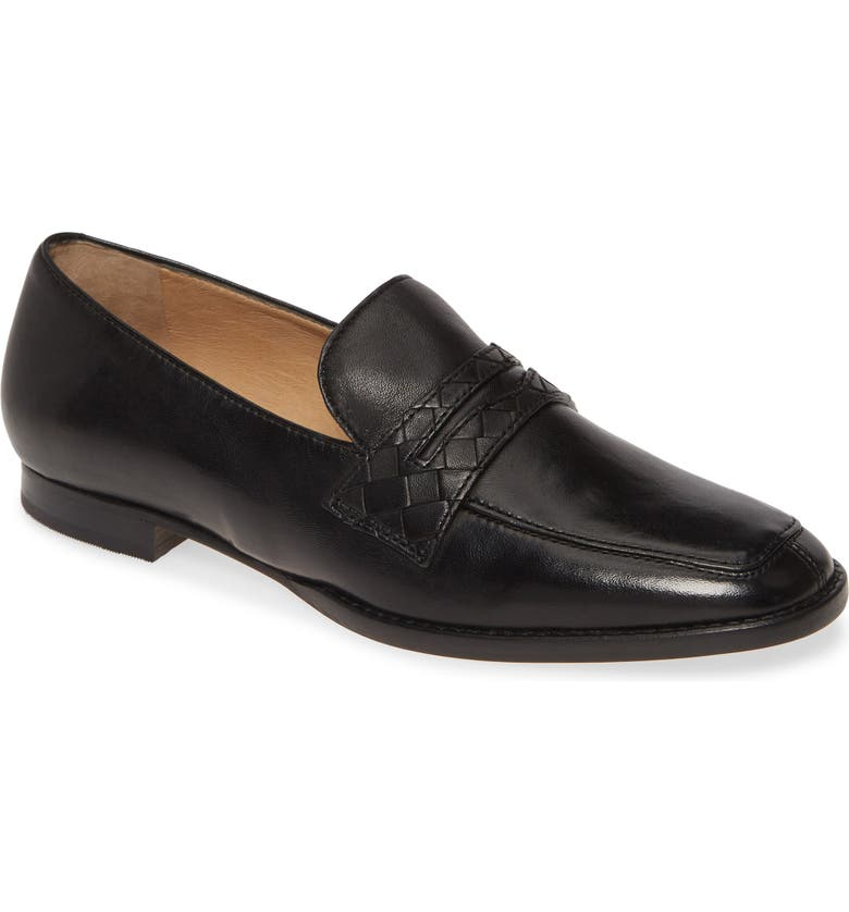 JOHNSTON & MURPHY Suzanna Penny Loafer, Main, color, BLACK LEATHER