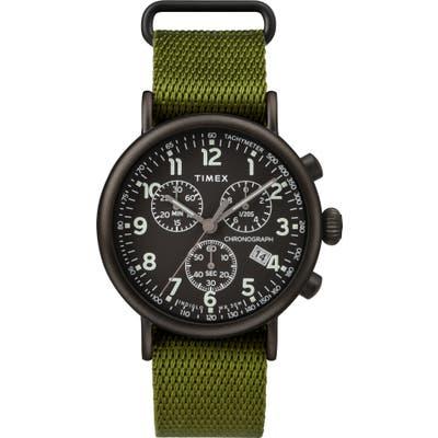 Timex Standard Chronograph Textile Strap Watch, 41Mm