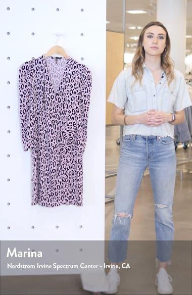 Ripanta Leopard Print Wrap Front Dress, sales video thumbnail