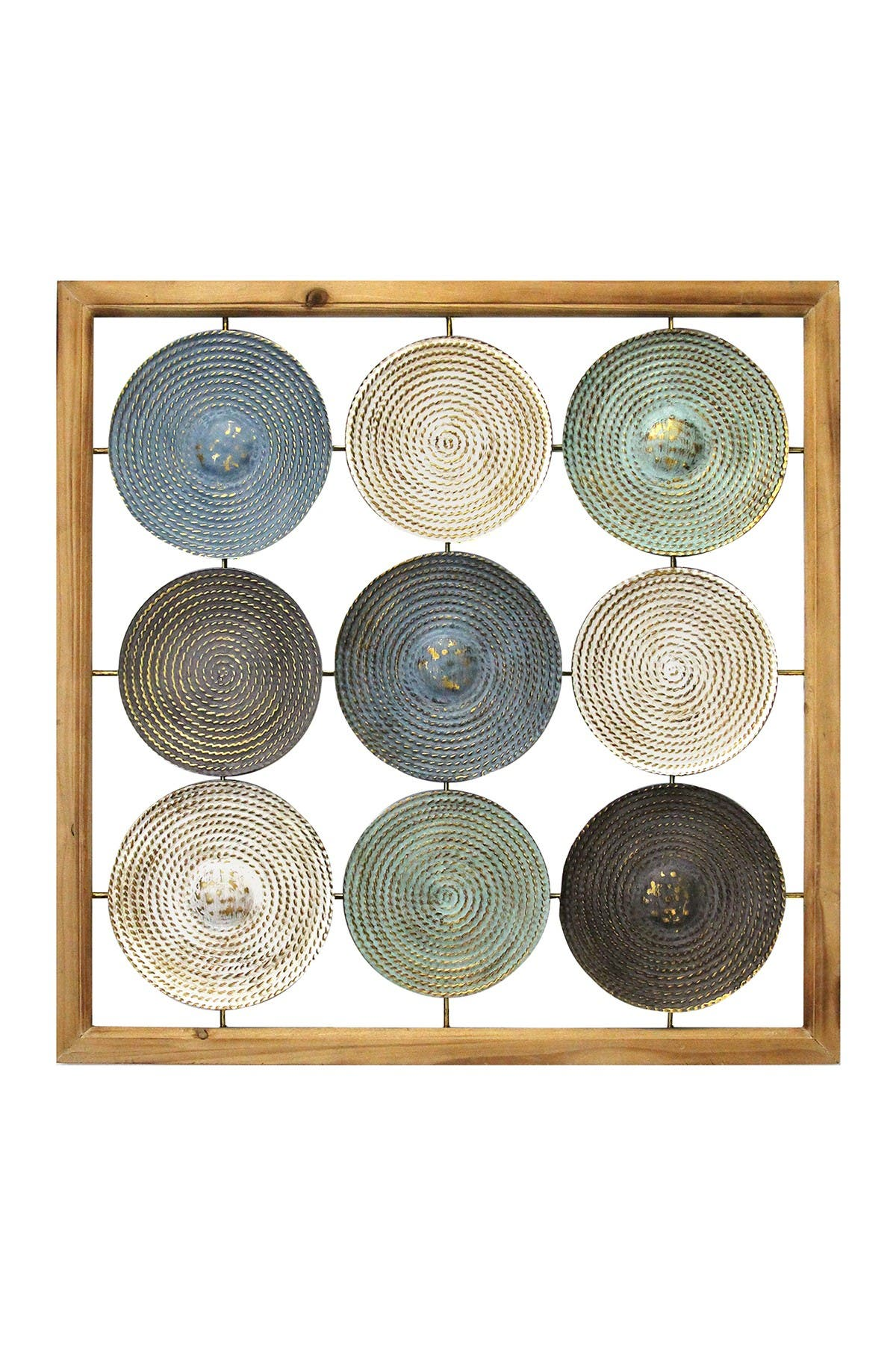 Image of Stratton Home Multi Wood Frame & Metal Plates Wall Art