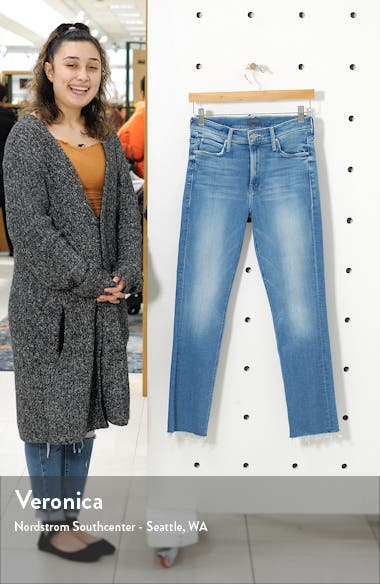 The Dazzler High Waist Fray Ankle Straight Leg Jeans, sales video thumbnail