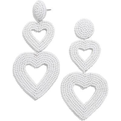 Baublebar Double Heart Beaded Drop Earrings