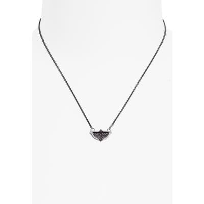 Armenta Half-Circle Pave Pendant Necklace