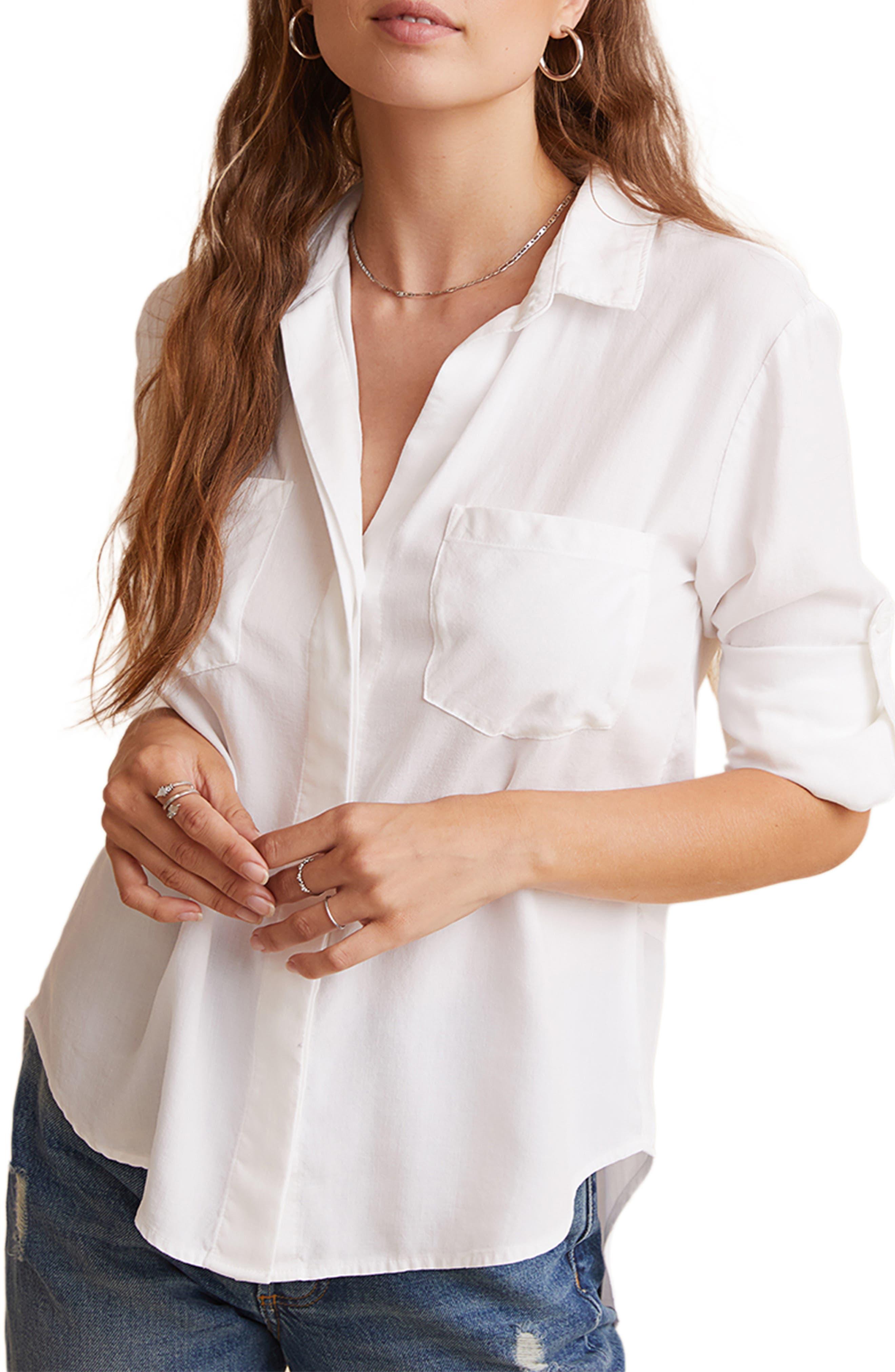 Split Back Button-Up Shirt