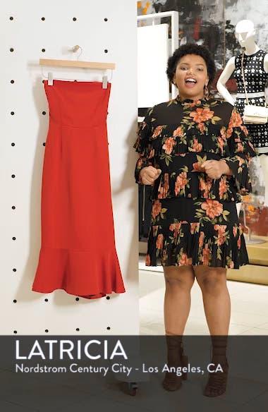 Bonded Crepe Strapless Dress, sales video thumbnail