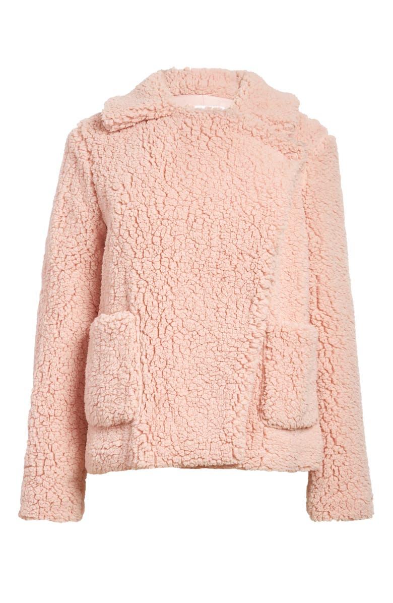 BB DAKOTA Faux Fur Jacket, Main, color, PINK