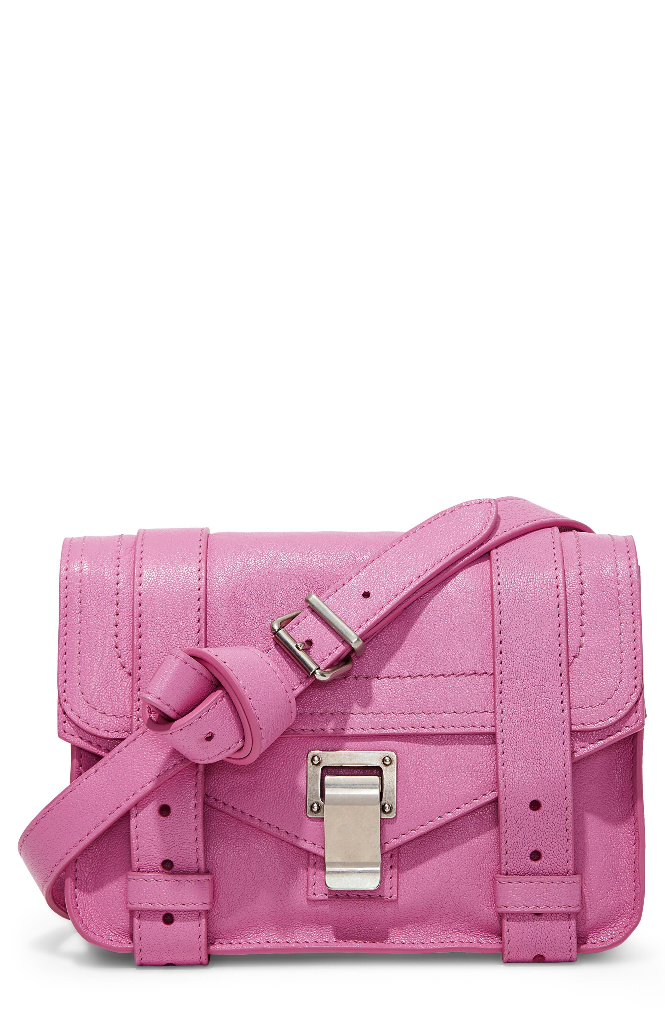 ,                             'Mini PS1' Lambskin Leather Crossbody Bag,                             Main thumbnail 6, color,                             652