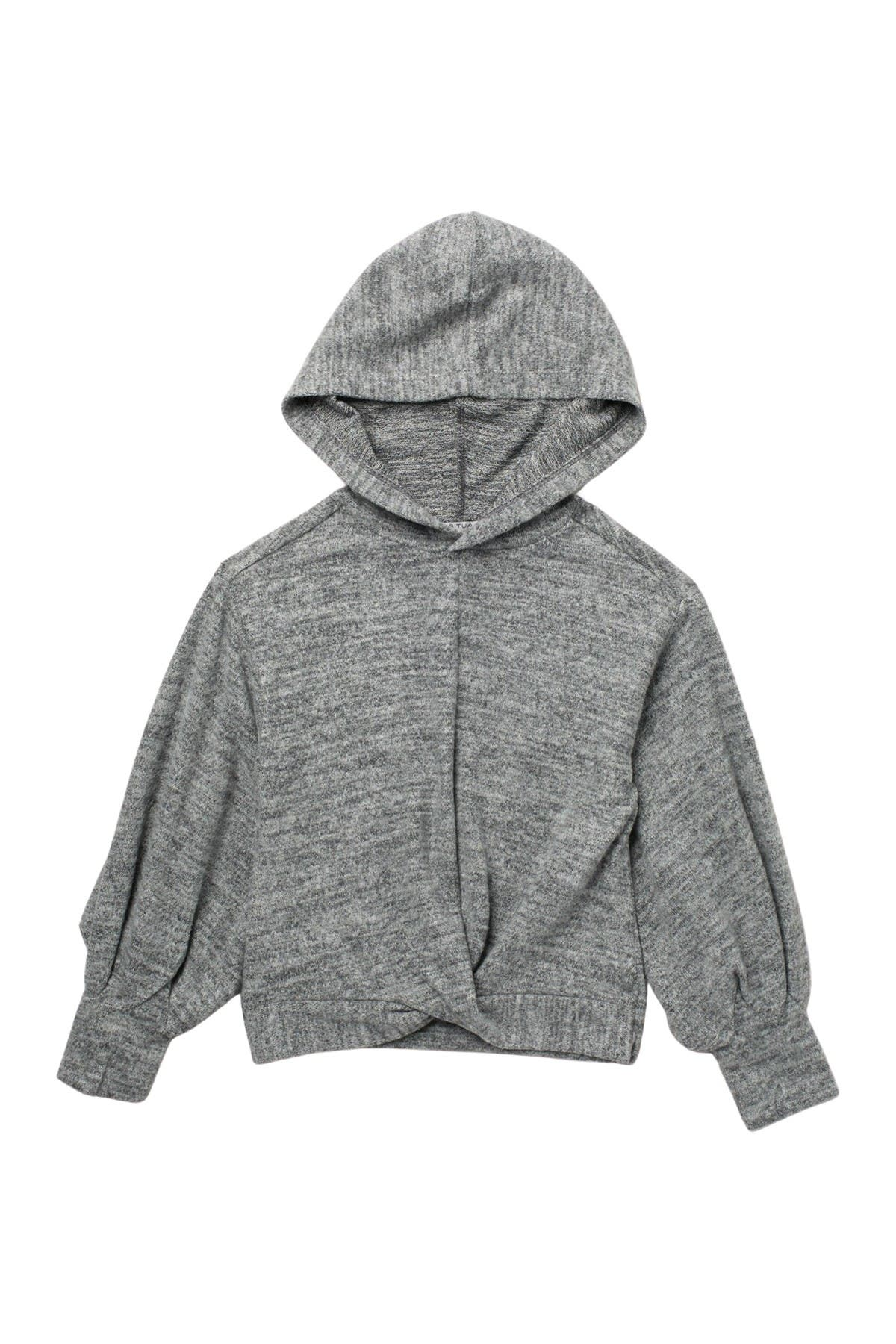 Image of Habitual Haven Hatchi Twist Hoodie Top