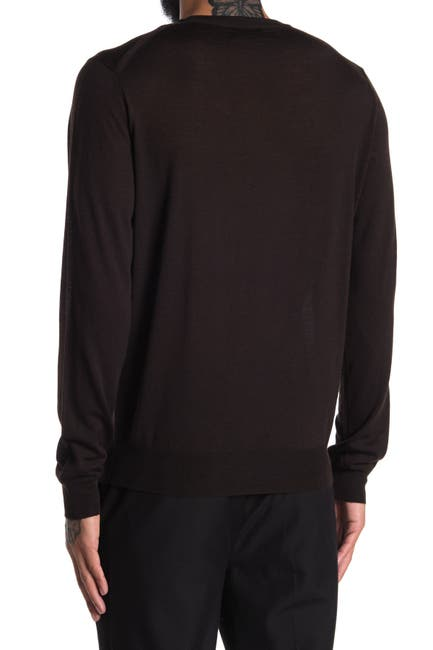 Image of Corneliani Solid Wool Long Sleeve Sweater