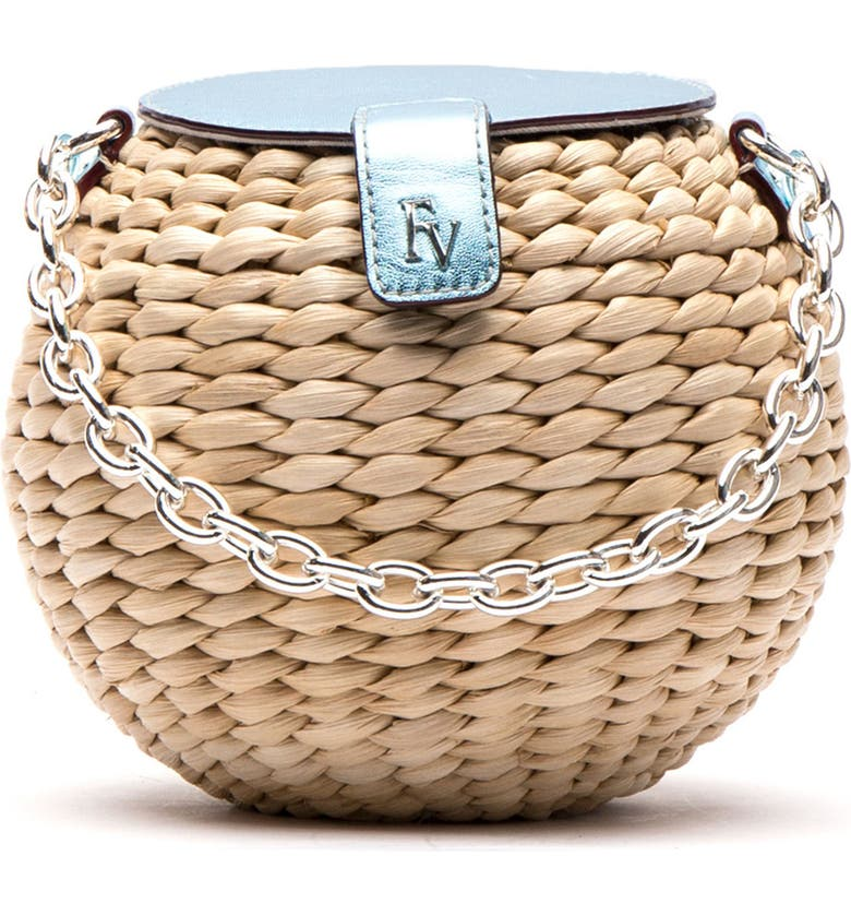 FRANCES VALENTINE Mini Straw Bucket Bag, Main, color, 250