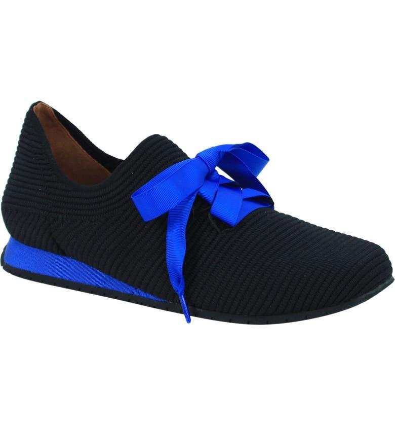L'AMOUR DES PIEDS Taimah Sneaker, Main, color, BLACK/ BLUE FABRIC
