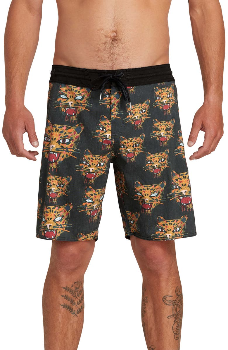 bfa0f79e2dbd3 Ozzie Stoney Leopard Print Board Shorts, Main, color, MULTI