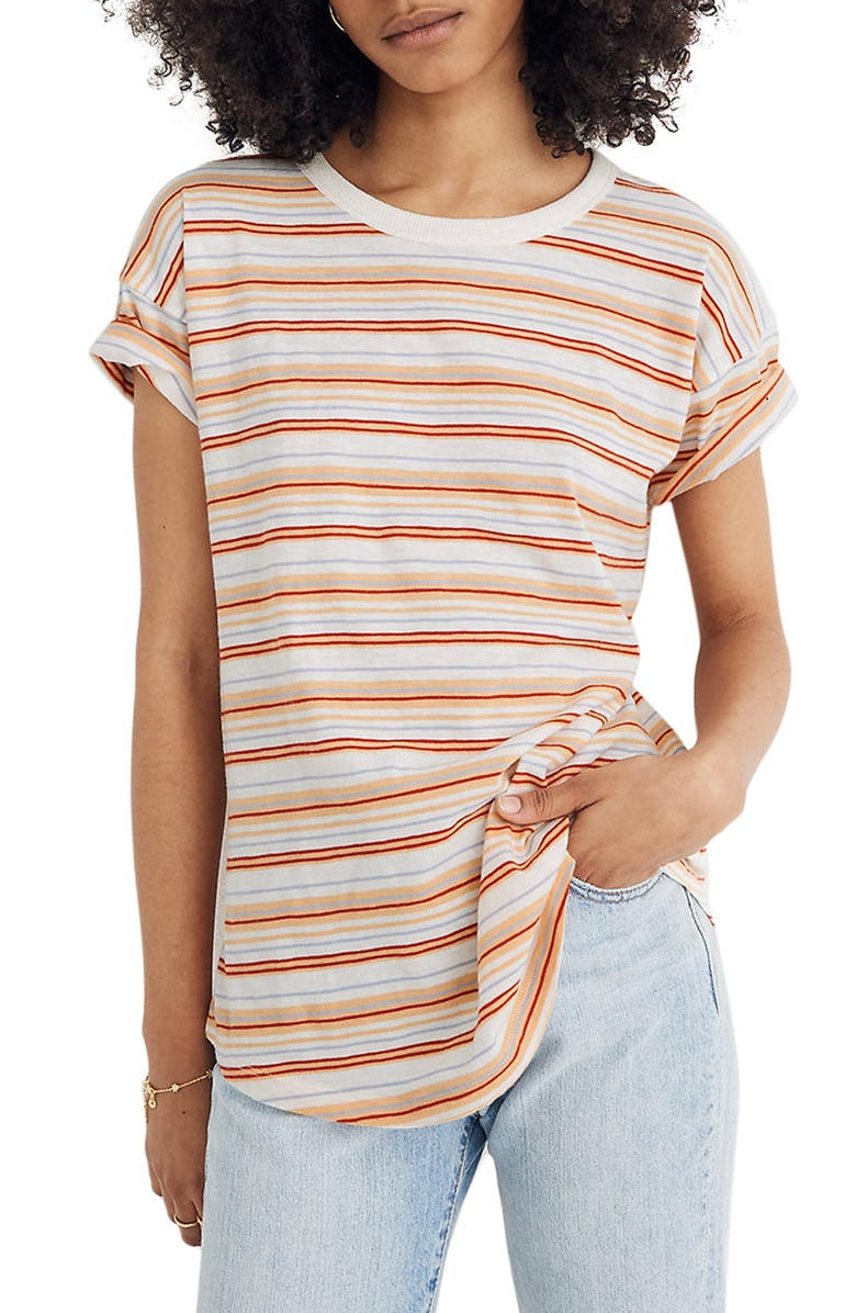MADEWELL Whisper Cotton Crewneck T-Shirt, Main, color, 900