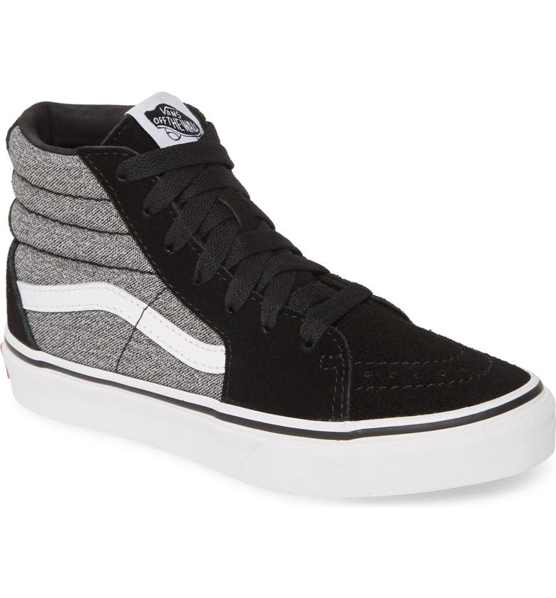 VANS SK8-Hi High Top Sneaker, Main, color, SUITING/ BLACK