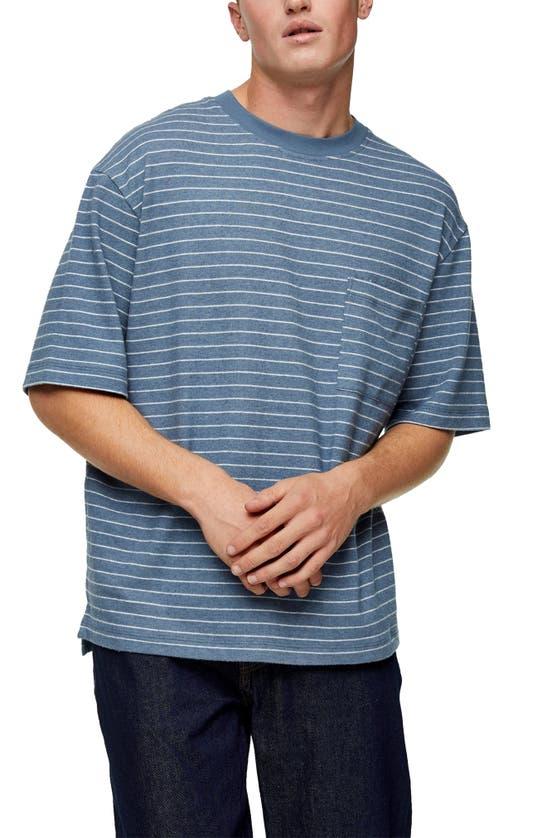 TOPMAN T-shirts BOXY FIT STRIPE T-SHIRT