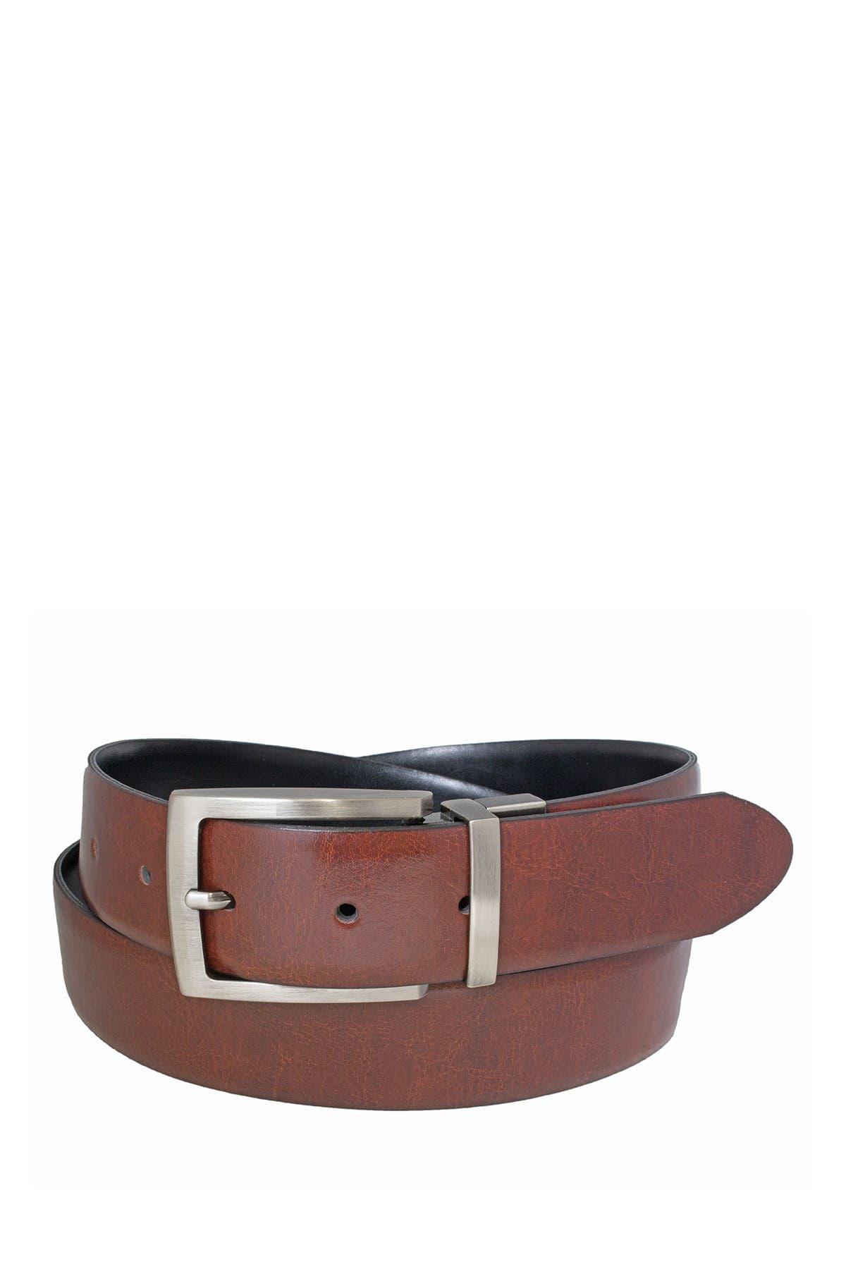 Image of BOSCA Reversible 35mm Rolled Edge Leather Belt