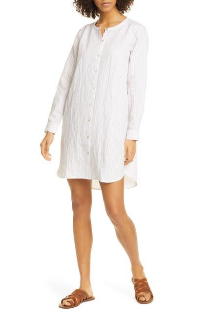 Image of Eileen Fisher Crew Neck Shirt Dress