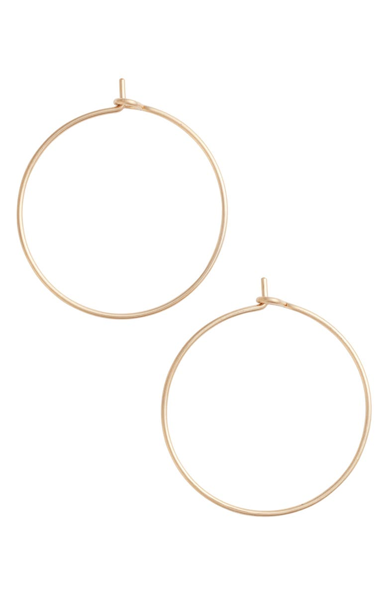 NASHELLE Medium Pure Hoop Earrings, Main, color, GOLD