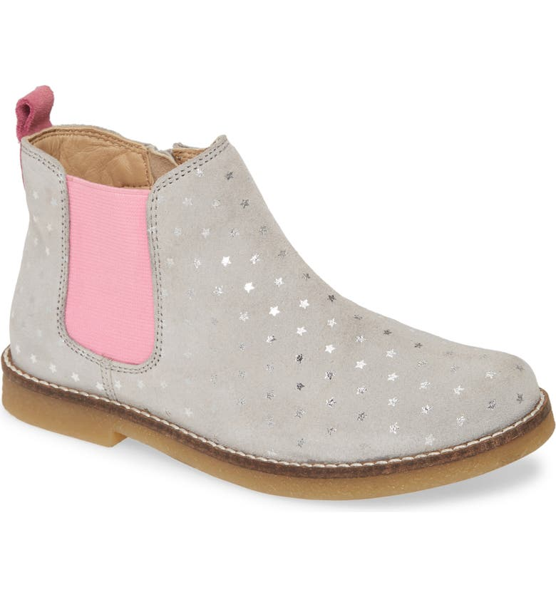JOULES Kelsey Chelsea Boot, Main, color, SILVER POLKA DOT