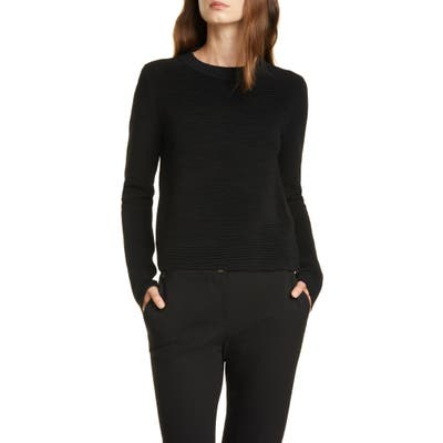 Club Monaco Ottoman Crewneck Wool Blend Sweater, Black