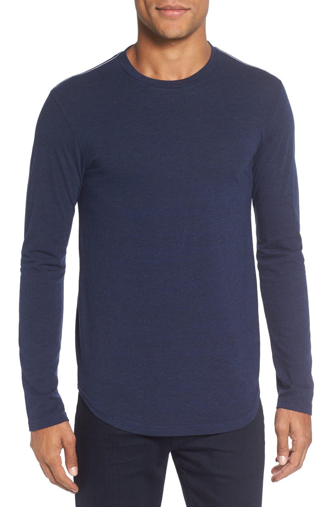 ,                             Triblend Scallop Long Sleeve Crewneck T-Shirt,                             Main thumbnail 24, color,                             400