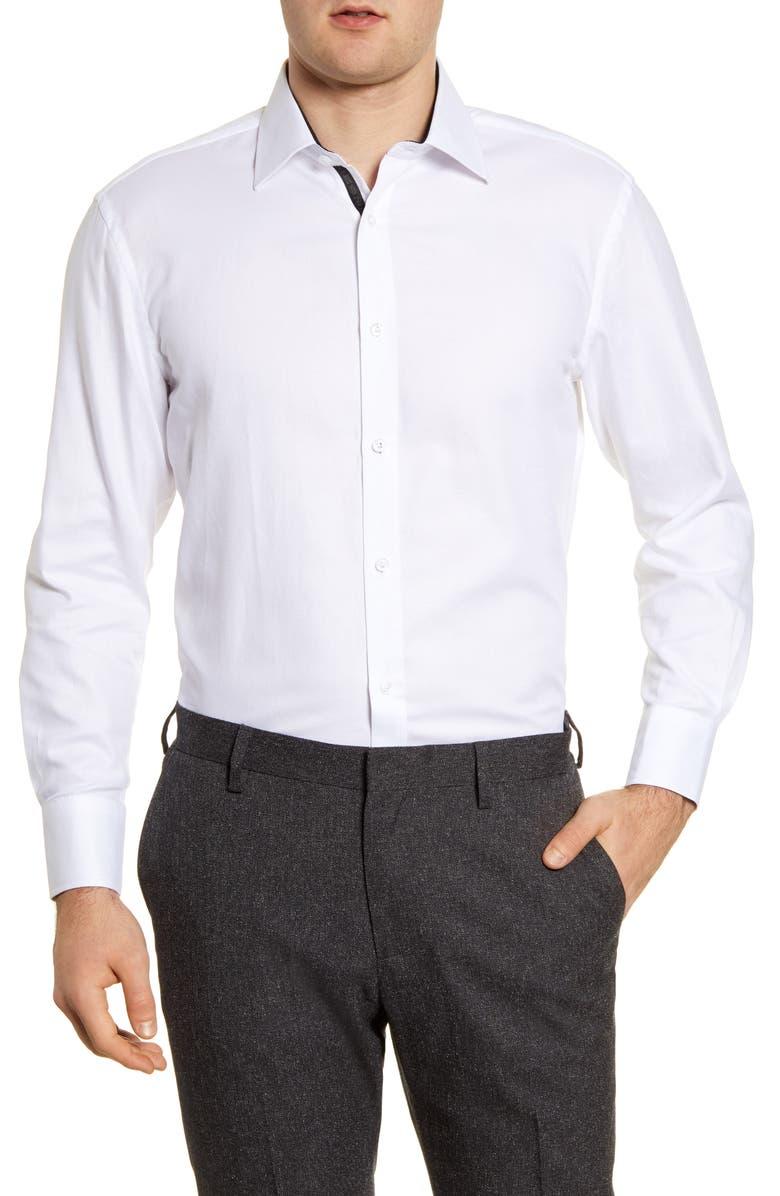 ENGLISH LAUNDRY Regular Fit Dress Shirt, Main, color, WHITE