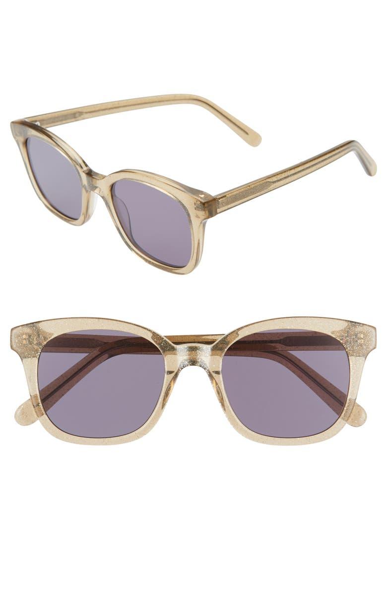 MADEWELL Venice 49mm Flat Frame Sunglasses, Main, color, 200
