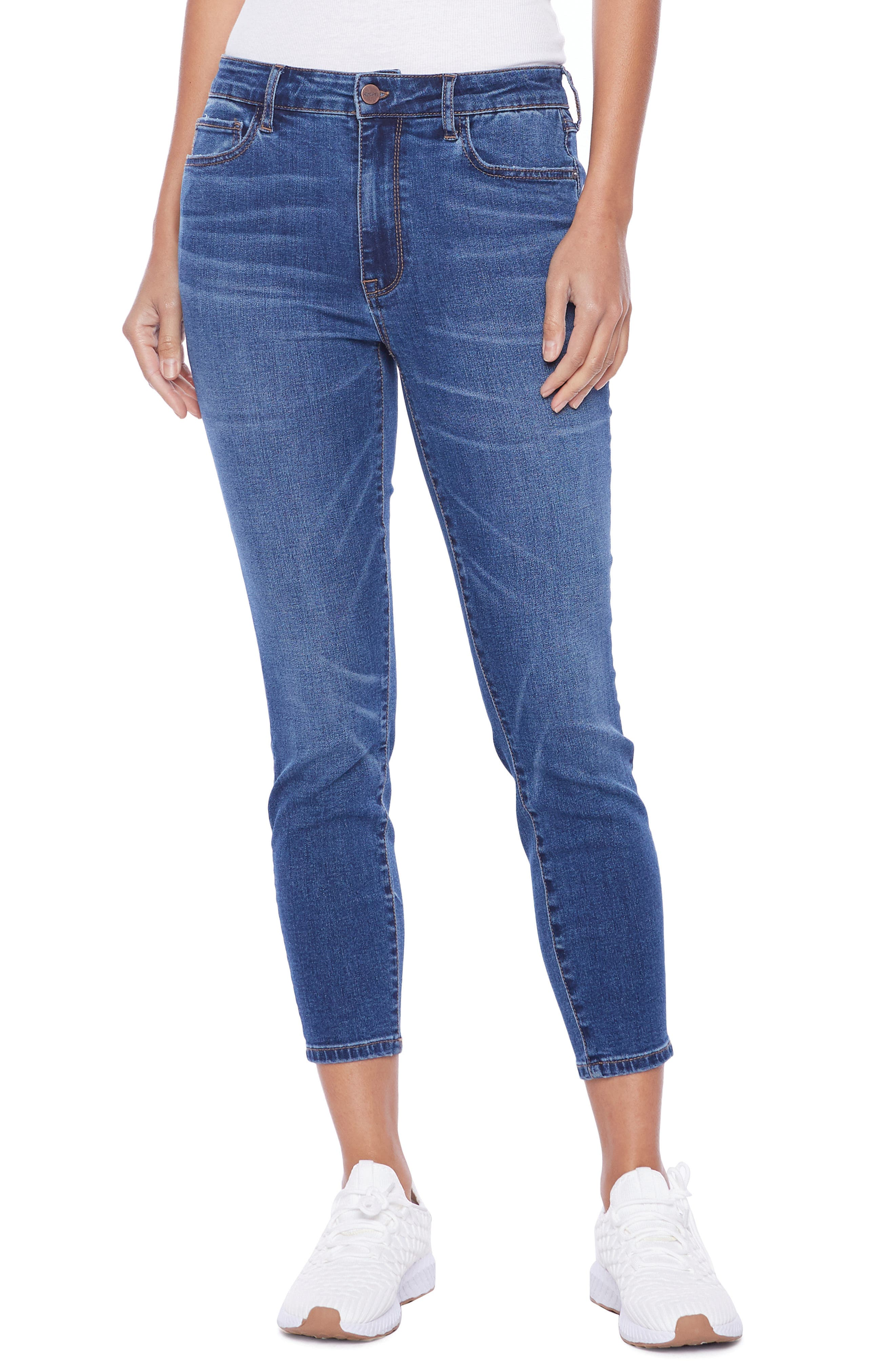 Brilliant High Waist Ankle Skinny Jeans