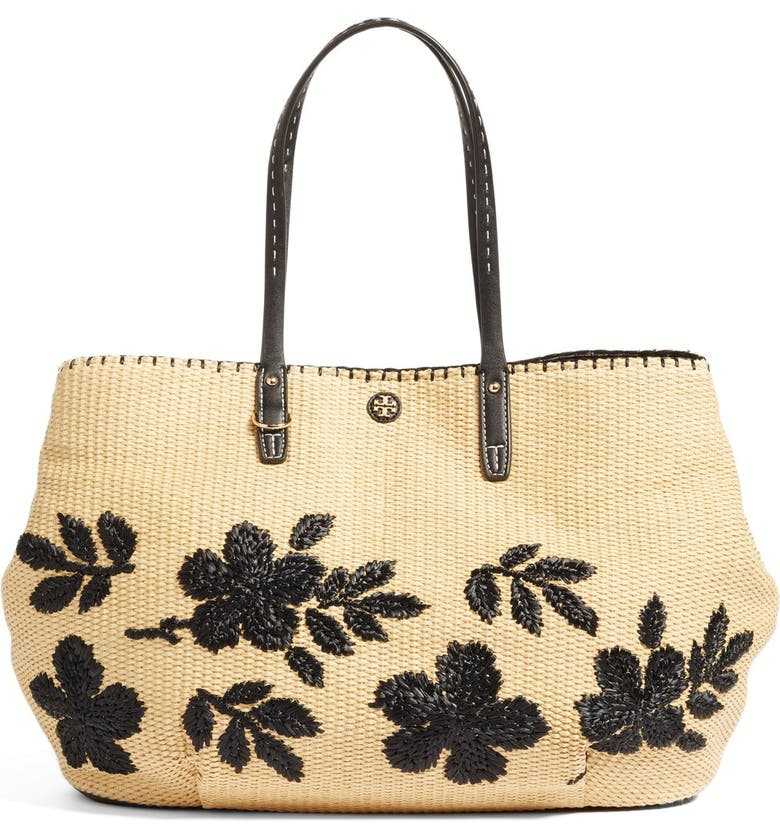 TORY BURCH Kerrington Straw Tote, Main, color, 280
