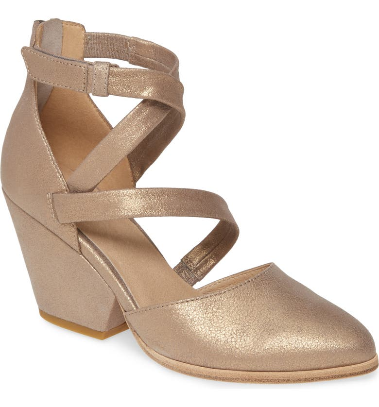 EILEEN FISHER Rea Pump, Main, color, PLATINUM GOLD SUEDE