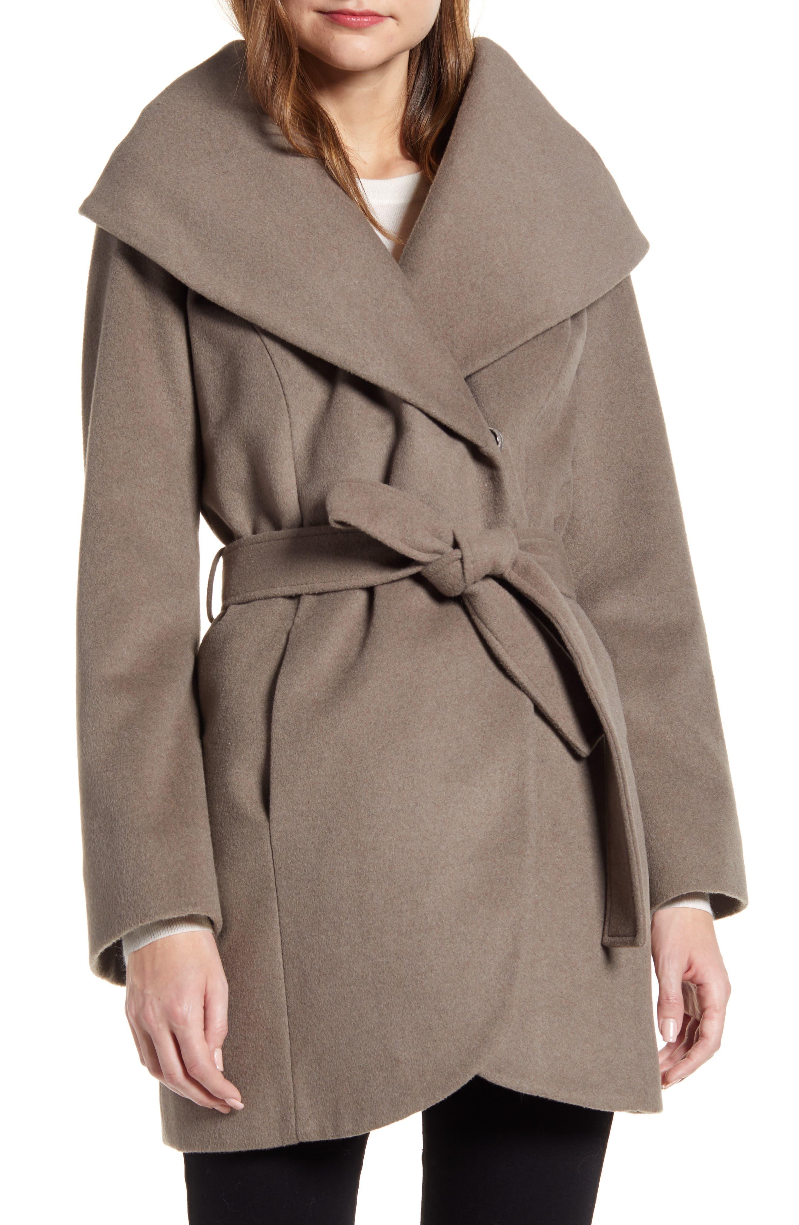 Image of Halogen Wool Blend Wrap Coat