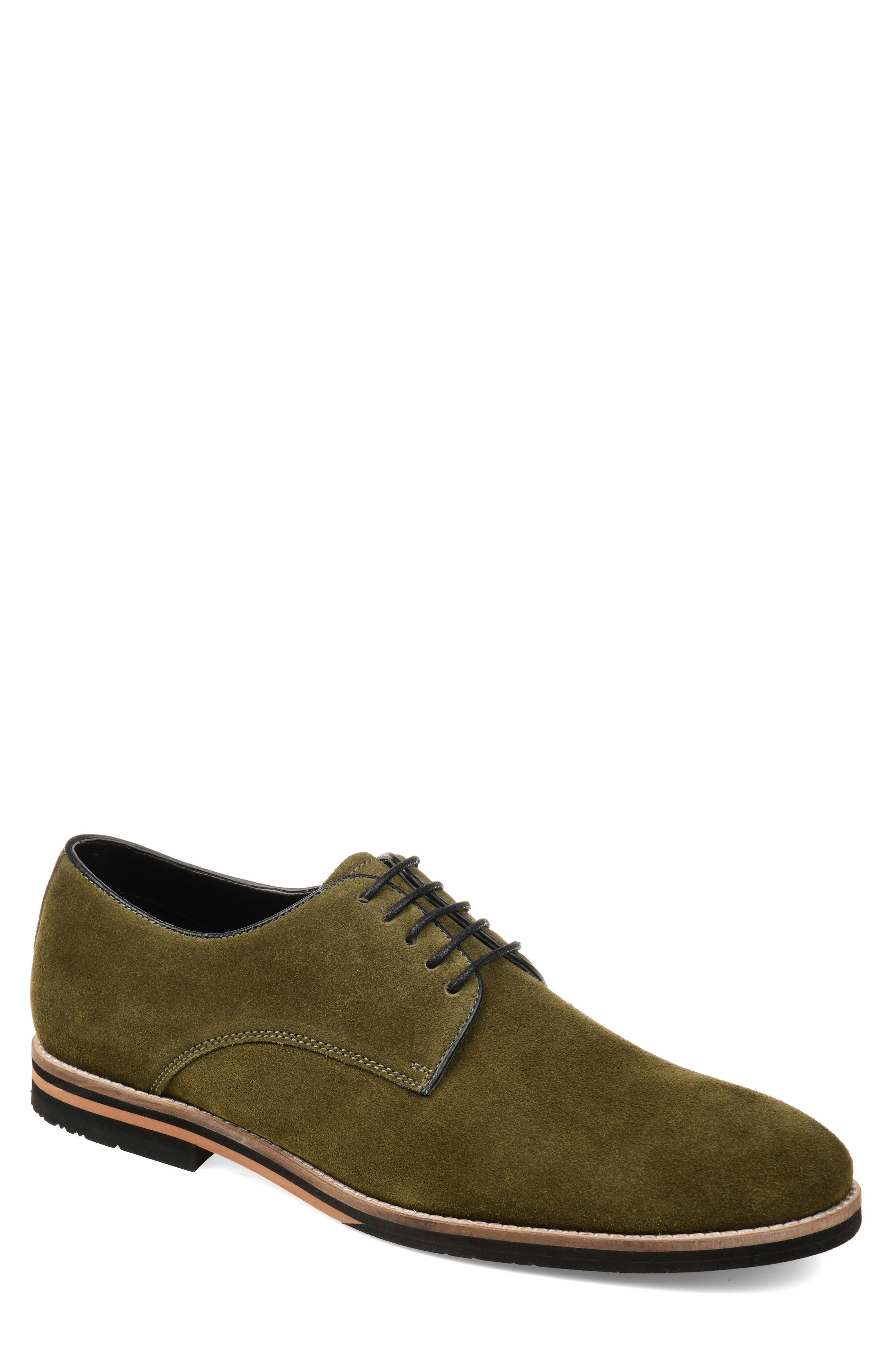 Clean lines and simple detailing bring easy-to-wear appeal to a wardrobe-staple derby crafted from soft suede and set on an EVA-cushioned sole. Style Name: Thomas & Vine Gunner Plain Toe Derby (Men). Style Number: 5715652. Available in stores.