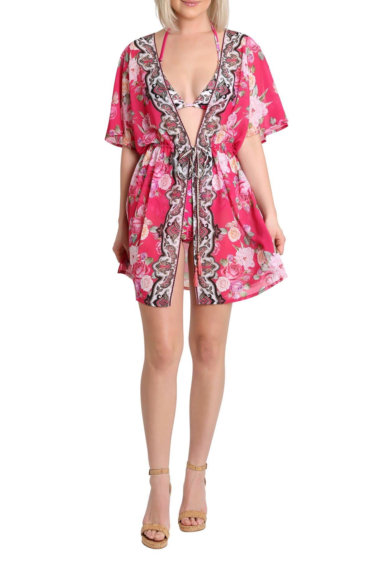 Image of Nanette Lepore Kayla Tie Front Kaftan