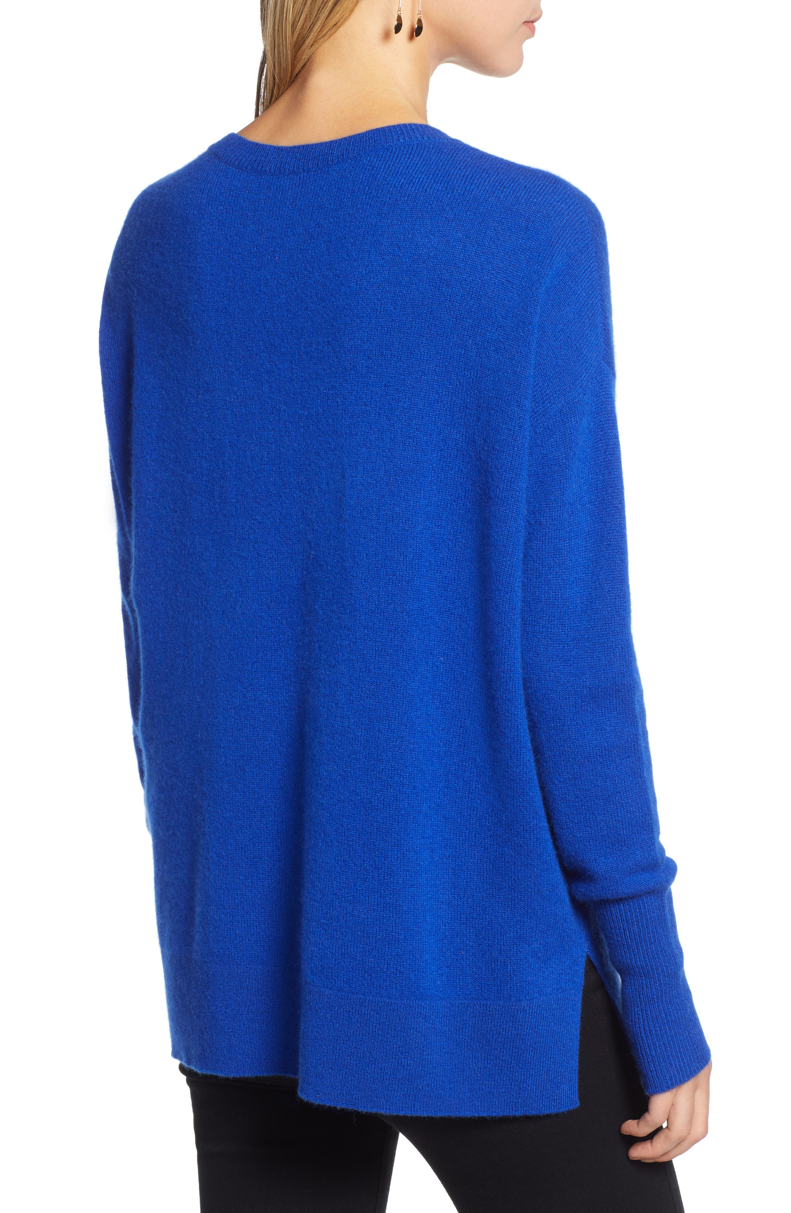 ,                             Relaxed V-Neck Cashmere Sweater,                             Alternate thumbnail 44, color,                             400
