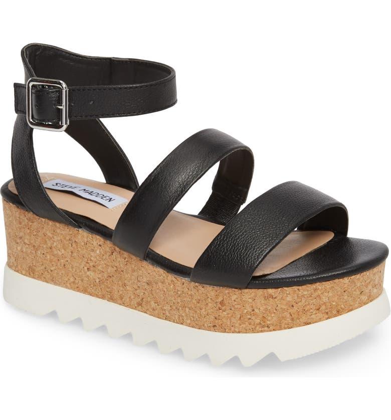 STEVE MADDEN Kirsten Layered Platform Sandal, Main, color, 001