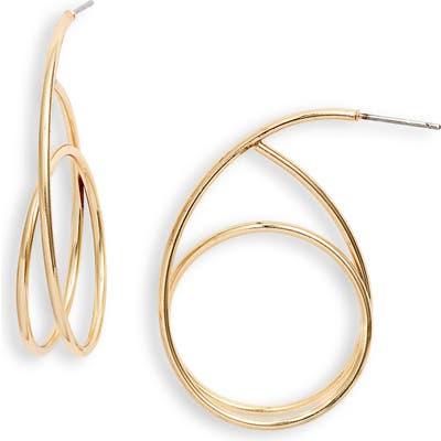 Halogen Swirl Hoop Earrings