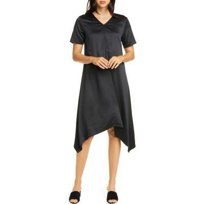 Eileen Fisher Handkerchief Hem Shift Dress, Black