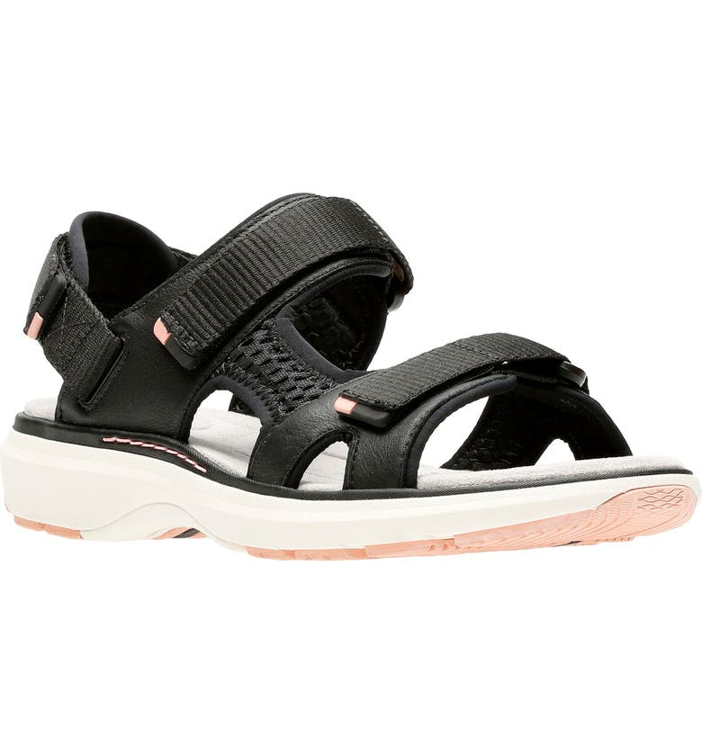 960a32cb Unstructured Roam Step Sandal, Main, color, BLACK LEATHER