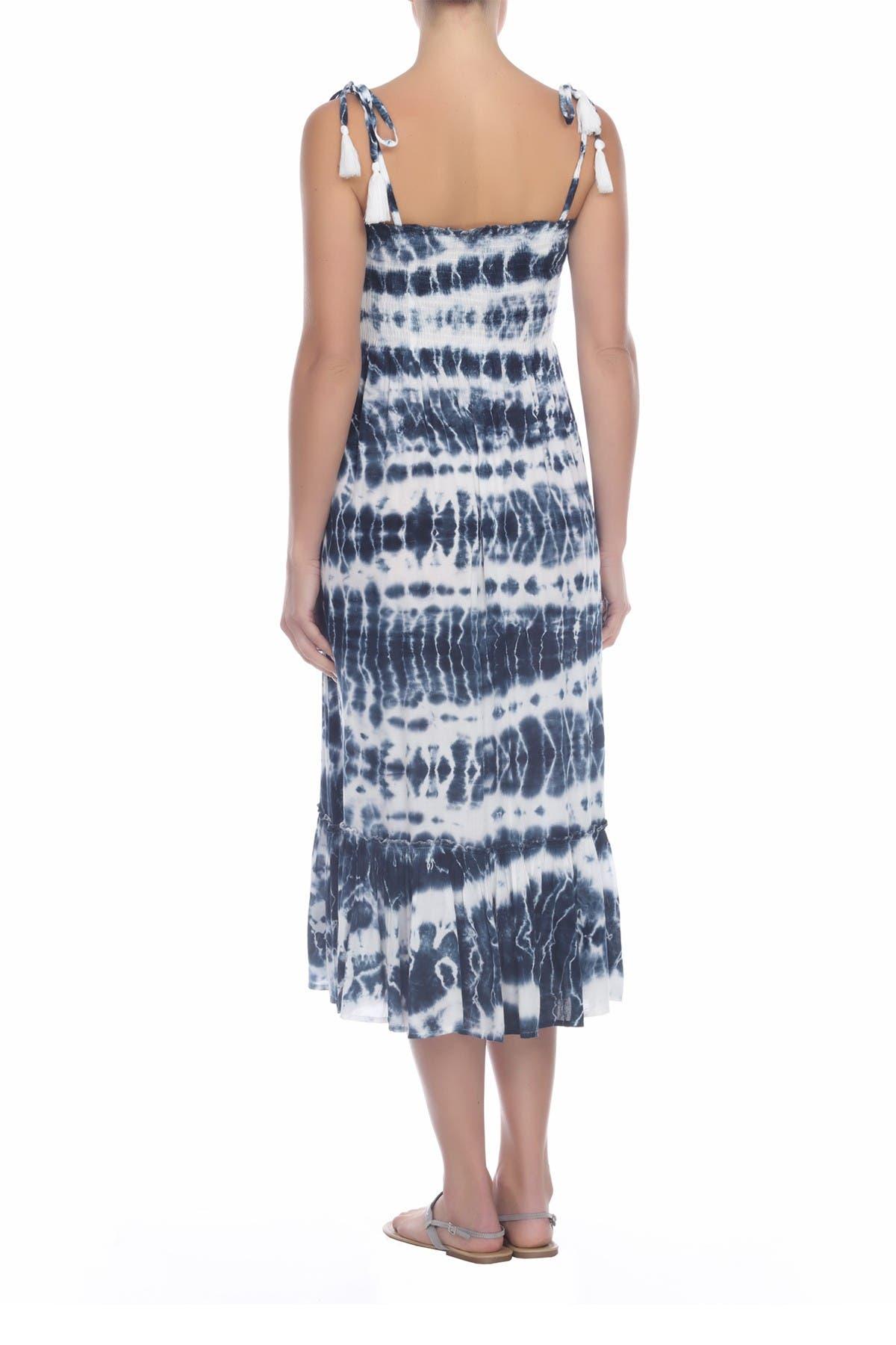 Image of BOHO ME Smocked Tie Dye Midi Dress