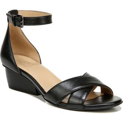 Naturalizer Caine Ankle Strap Sandal, Black